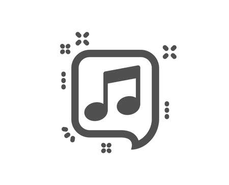 Musical note in speech bubble icon. Music sign. Quality design element. Classic style icon. Vector Иллюстрация