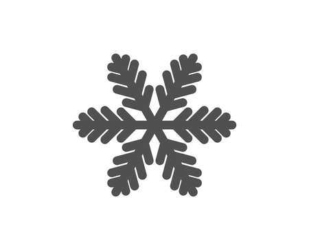 Snowflake icon. Christmas snow sign. Winter or cold symbol. Quality design element. Classic style icon. Vector