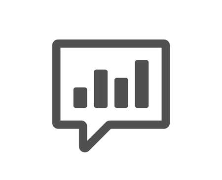 Chart icon. Report graph or Sales growth sign in speech bubble. Analysis and Statistics data symbol. Quality design element. Classic style icon. Vector Ilustração
