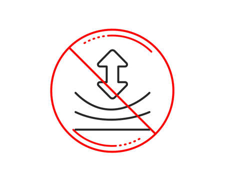 No or stop sign. Resilience line icon. Elastic material sign. Caution prohibited ban stop symbol. No  icon design.  Vector