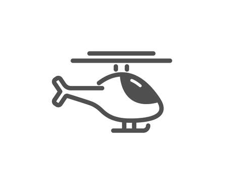 Helicopter transport icon. Flight transportation sign. Quality design element. Classic style icon. Vector Çizim