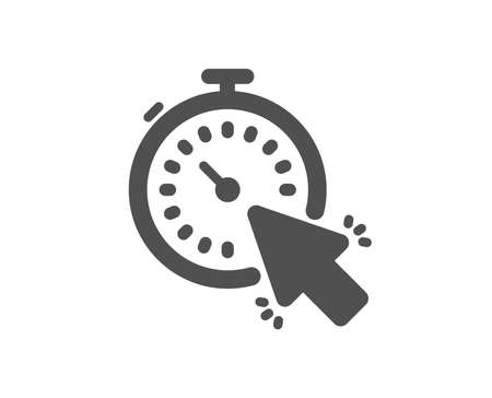 Timer icon. Time or clock sign. Mouse cursor symbol. Quality design element. Classic style icon. Vector