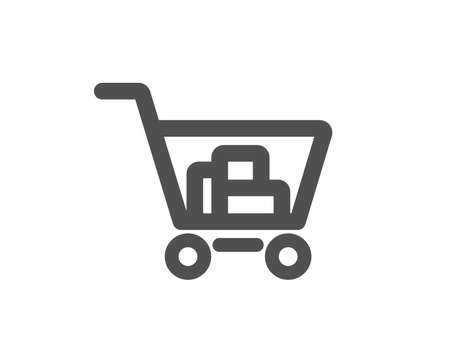 Shopping cart icon. Online buying sign. Supermarket basket symbol. Quality design element. Classic style icon. Vector Archivio Fotografico - 126675457