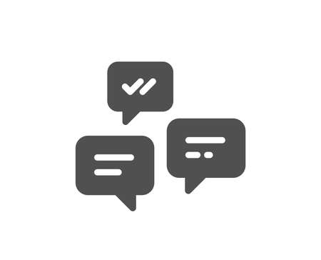 Chat Messages icon. Conversation or SMS sign. Communication symbol. Quality design element. Classic style icon. Vector Çizim