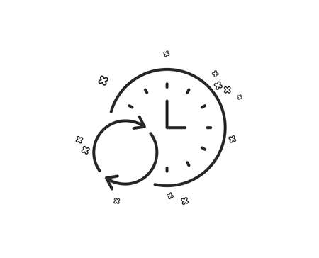 Time line icon. Update clock or Deadline symbol. Time management sign. Geometric shapes. Random cross elements. Linear Update Time icon design. Vector