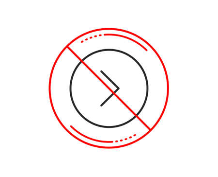 No or stop sign. Forward arrow line icon. Next Arrowhead symbol. Next navigation pointer sign. Caution prohibited ban stop symbol. No  icon design.  Vector