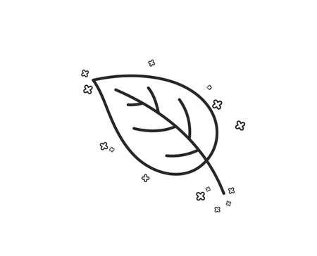 Leaf line icon. Nature plant sign. Environmental care symbol. Geometric shapes. Random cross elements. Linear Leaf icon design. Vector Иллюстрация