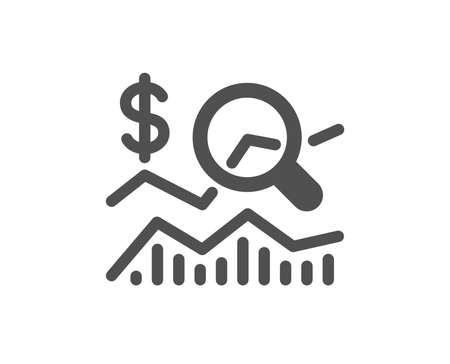 Check investment icon. Business audit sign. Check finance symbol. Quality design element. Classic style icon. Vector