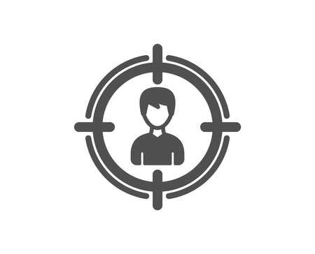 Head hunting icon. Business target or Employment sign. Quality design element. Classic style icon. Vector
