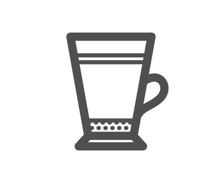 Latte coffee icon. Hot drink sign. Beverage symbol. Quality design element. Classic style icon. Vector