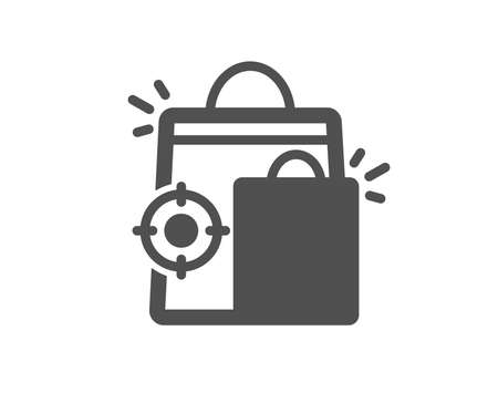 Seo shopping bags icon. Search engine optimization sign. Analytics symbol. Quality design element. Classic style icon. Vector Фото со стока - 126312114
