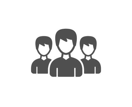 Group icon. Users or Teamwork sign. Male Person silhouette symbol. Quality design element. Classic style icon. Vector