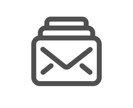 Mail icon. New Messages correspondence sign. E-mail symbol. Quality design element. Classic style icon. Vector