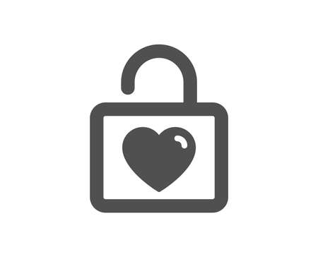 Locker with Heart icon. Love symbol. Valentines day or Wedding sign. Quality design element. Classic style icon. Vector