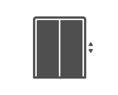 Icône d'ascenseur. Signe d'ascenseur. Symbole de transport entre les étages. Élément de conception de qualité. Icône de style classique. Vecteur Vecteurs