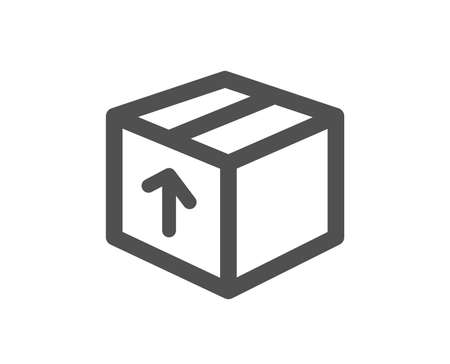 Delivery box icon. Logistics shipping sign. Parcels tracking symbol. Quality design element. Classic style icon. Vector