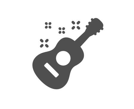 Acoustic guitar icon. Music sign. Musical instrument symbol. Quality design element. Classic style icon. Vector Ilustrace