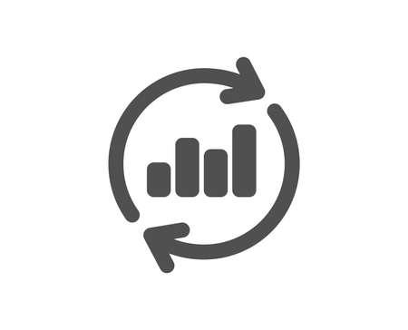 Chart icon. Update Report graph or Sales growth sign. Analysis and Statistics data symbol. Quality design element. Classic style icon. Vector 일러스트