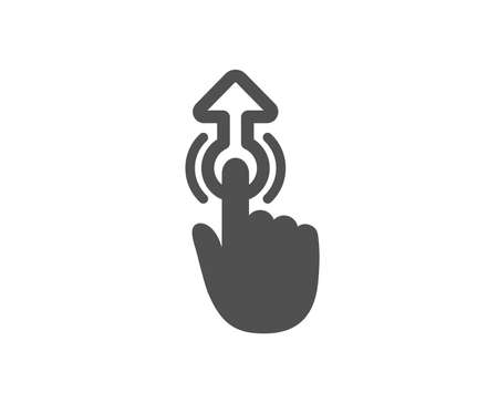 Swipe up icon. Move finger sign. Touch technology symbol. Quality design element. Classic style icon. Vector 向量圖像
