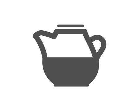 Milk jug for coffee icon. Fresh drink sign. Beverage symbol. Quality design element. Classic style icon. Vector