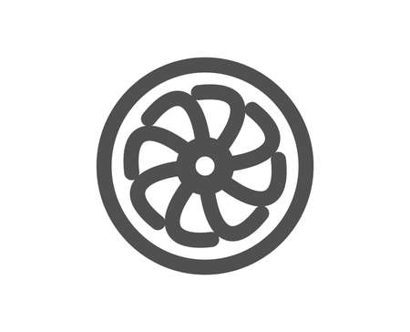 Fan engine icon. Jet turbine sign. Ventilator symbol. Quality design element. Classic style icon. Vector