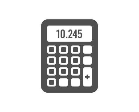 Rechner-Symbol. Buchhaltung Zeichen. Finanzsymbol berechnen. Hochwertiges Gestaltungselement. Symbol im klassischen Stil. Vektor