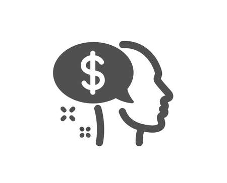 Pay icon. Think about money sign. Beggar symbol. Quality design element. Classic style icon. Vector