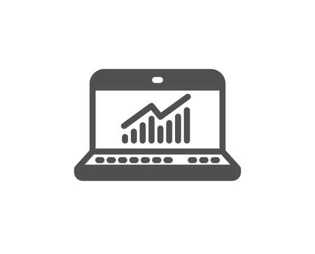 Data Analysis and Statistics icon. Report graph or Chart sign. Computer data processing symbol. Quality design element. Classic style icon. Vector