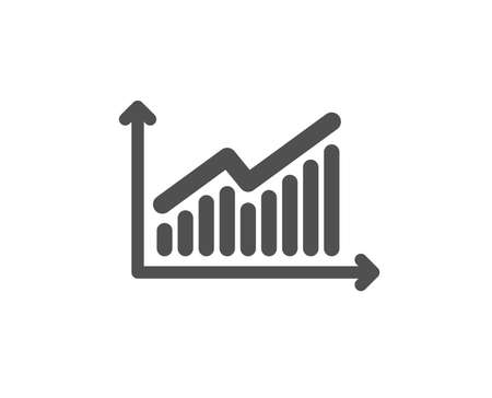 Chart icon. Report graph or Sales growth sign. Analysis and Statistics data symbol. Quality design element. Classic style icon. Vector Çizim