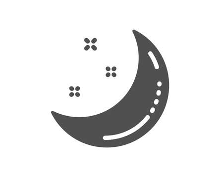 Moon and stars icon. Night sign. Sleep symbol. Quality design element. Classic style icon. Vector