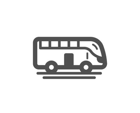 Bus tour transport icon. Transportation sign. Tourism or public vehicle symbol. Quality design element. Classic style icon. Vector Illustration