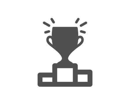 Winner podium icon. Sports Trophy symbol. Championship achievement sign. Quality design element. Classic style icon. Vector