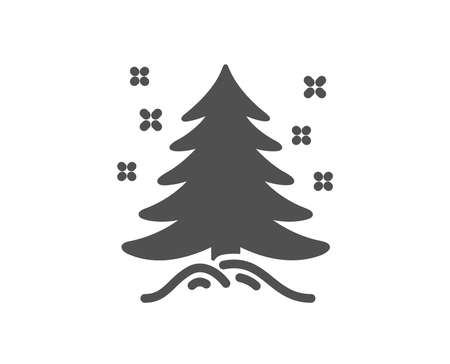 Christmas tree present icon. New year spruce sign. Fir-tree symbol. Quality design element. Classic style icon. Vector 스톡 콘텐츠 - 125985833