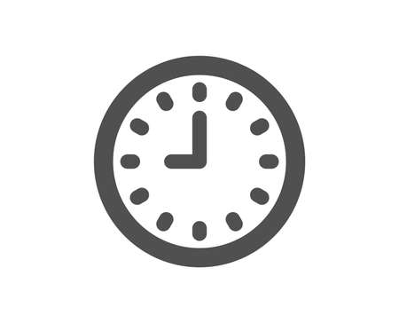 Clock icon. Time sign. Office Watch or Timer symbol. Quality design element. Classic style icon. Vector 向量圖像
