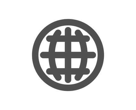 Globe icon. World or Earth sign. Global Internet symbol. Quality design element. Classic style icon. Vector Banque d'images - 115550922