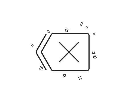 Delete line icon. Remove sign. Cancel or Close symbol. Geometric shapes. Random cross elements. Linear Remove icon design. Vector Ilustração