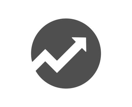 Chart icon. Report graph or Sales growth sign in circle. Analysis and Statistics data symbol. Quality design element. Classic style icon. Vector