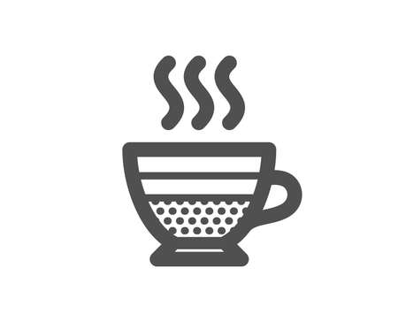 Cafe creme icon. Hot drink sign. Beverage symbol. Quality design element. Classic style icon. Vector