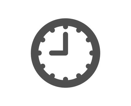 Clock icon. Time sign. Office Watch or Timer symbol. Quality design element. Classic style icon. Vector Çizim