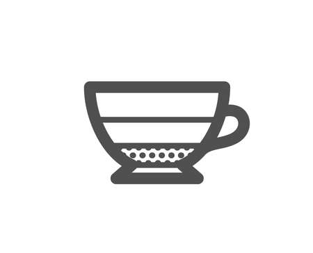 Americano coffee icon. Hot drink sign. Beverage symbol. Quality design element. Classic style icon. Vector
