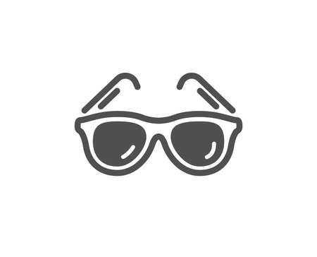 Travel sunglasses icon. Trip sun glasses sign. Holidays symbol. Quality design element. Classic style icon. Vector Stockfoto - 125985971