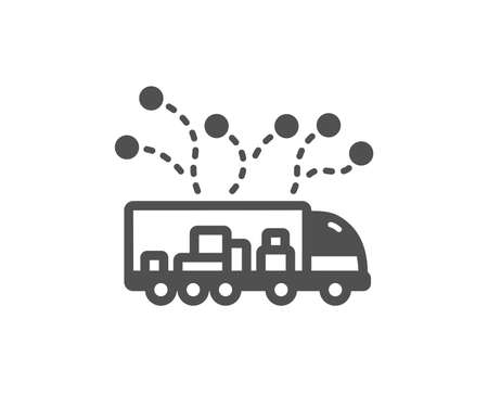 Truck transport icon. Transportation vehicle sign. Delivery logistics symbol. Quality design element. Classic style icon. Vector