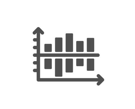 Diagram chart icon. Column graph sign. Market analytics symbol. Quality design element. Classic style icon. Vector