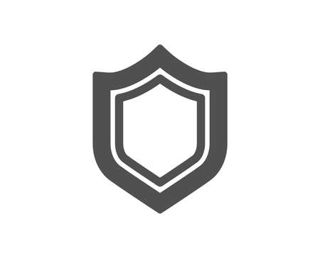 Shield icon. Protection or Security sign. Defence or Guard symbol. Quality design element. Classic style icon. Vector