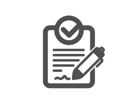 Rfp icon. Request for proposal sign. Report document symbol. Quality design element. Classic style icon. Vector Stock Vector - 115602603