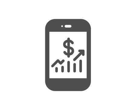 Mobile finance icon. Business audit sign. Check investment symbol. Quality design element. Classic style icon. Vector