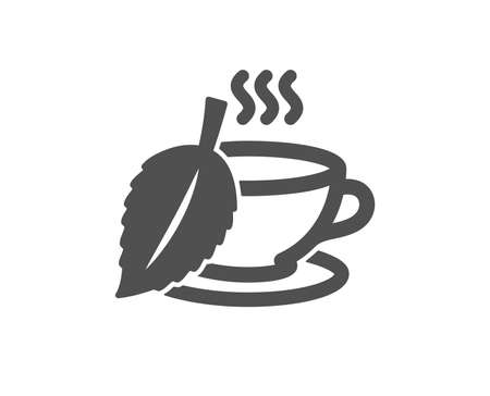 Mint Tea icon. Fresh herbal beverage sign. Cup of drink symbol. Quality design element. Classic style icon. Vector 向量圖像