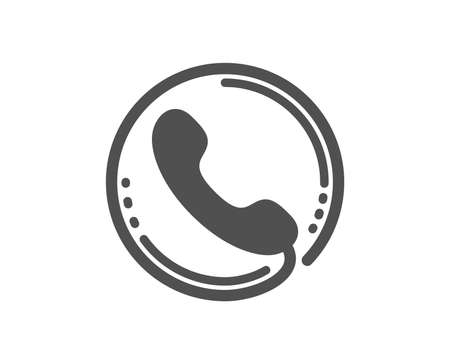 Call center service icon. Phone support sign. Feedback symbol. Quality design element. Classic style icon. Vector 矢量图像