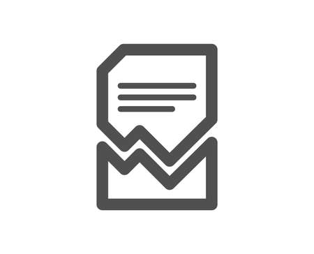 Corrupted Document icon. Bad File sign. Paper page concept symbol. Quality design element. Classic style icon. Vector