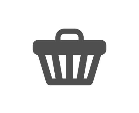 Shopping cart icon. Online buying sign. Supermarket basket symbol. Quality design element. Classic style icon. Vector Archivio Fotografico - 115552962